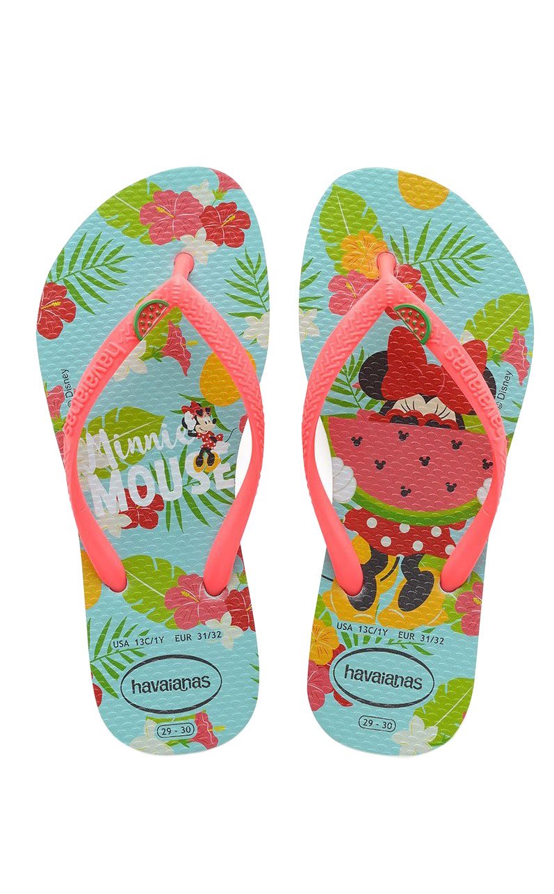 Infradito Kids Havaianas Disney Cool Ice Blue Coral New